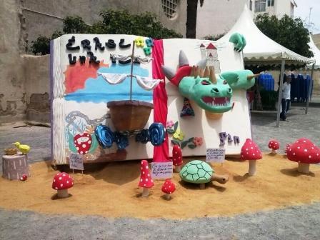 Hoguera realizada por los menores del Centro Els Reiets. Foto EPDA