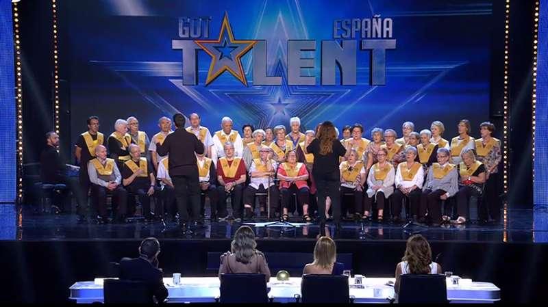 Actuación de Les Veus de la Memòria en Got Talent España en una pasada edición