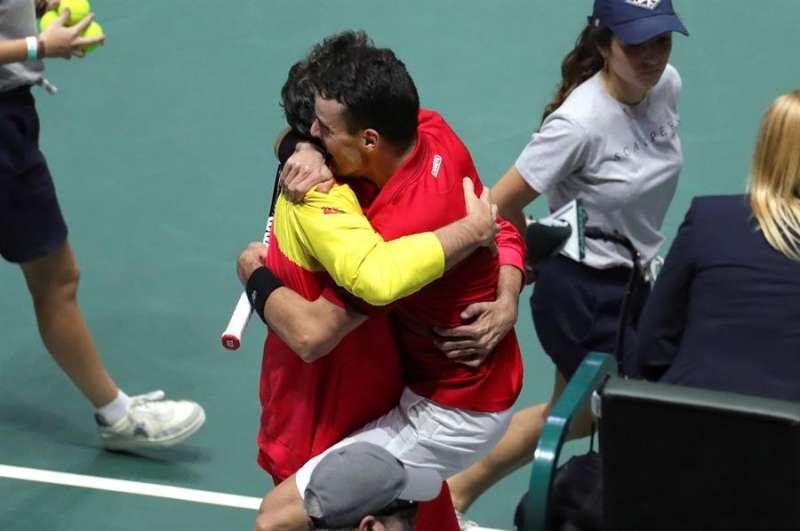 Roberto Bautista tras la final de la Copa Davis que enfrentó a España y Canadá. EFE/Juanjo Martín