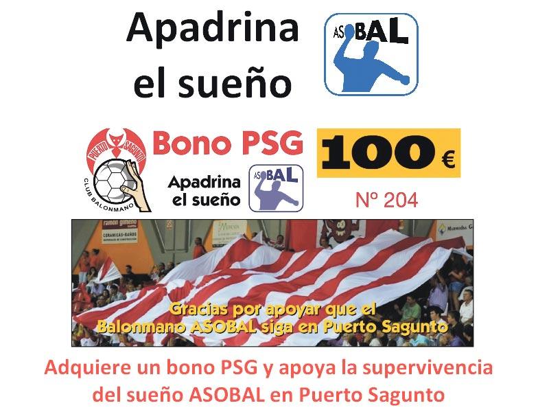 Anuncio para adquirir bonos del Alser Balonmano Puerto.