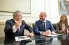 El peri�dico de aqu� -El presidente Alfonso Rus junto al alcalde de Faura y diputado provincial, Antoni Gaspar. FOTO: DIVAL