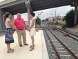 El peri�dico de aqu� -El alcalde de Riba-roja, Francisco Tarazona, durante una visita a las obras del metro. EPDA