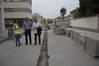 El peri�dico de aqu� -Los concejales del equipo de gobierno en las obras de la calle Peral de Puerto de Sagunto. EPDA