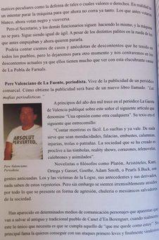 El peri�dico de aqu� -Una de las p�ginas del libro de Sancho.