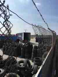 El peri�dico de aqu� -Foto del vertedero ilegal de neum�ticos en Aldaia seg�n EU. EPDA