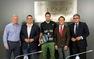 El peri�dico de aqu� -Monferrer, Bailach, Nicoletti, Castell� y Grau en la presentaci�n del Estrella Damm Open de P�del. FOTO: DIVAL