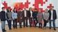 El peri�dico de aqu� -Mora con miembros de Cruz Roja y alumnos del IES Juan de Garay el D�a contra la violencia de g�nero. FOTO: DIVAL