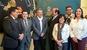 El peri�dico de aqu� -De izqda. a dcha. los alcaldes de Torres Torres, Tavernes Blanques, Albuixech, Benag�ber, Alpuente, Chiva y Villar del Arzobispo. FOTO: DIVAL
