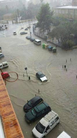 El peri�dico de aqu� -Zona inundada de Aprendices en Puerto de Sagunto. EPDA