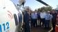 El peri�dico de aqu� -Rus junto al conseller Santamar�a durante la explicaci�n de la Unidad Helitransportadora de Rescate. FOTO: DIVAL