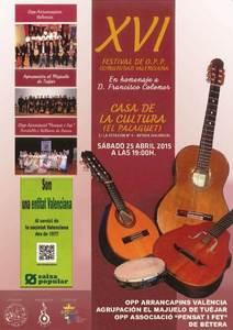 El peri�dico de aqu� -XVI Festival de Orquestas de Pulso y P�a de la Comunidad Valenciana. FOTO: EPDA