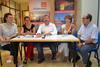 El peri�dico de aqu� -Rueda de prensa de Comprom�s para balorar los resultados de los comicios en Sagunto. EPDA