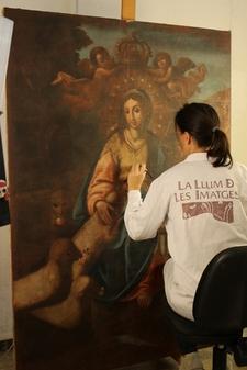El peri�dico de aqu� -El lienzo Divina Pastora, de autor�a an�nima y datado en el siglo XVIII, pertenece al Museo de la Catedral de Segorbe. FOTO: GVA