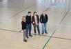 El peri�dico de aqu� -El alcalde y las concejalas de Sagunto en las instalaciones del pabell�n Ren� Marigil. EPDA