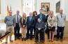 El peri�dico de aqu� -El presidente Rus con los premiados. FOTO: DIVAL