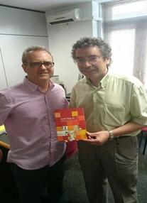 El peri�dico de aqu� -Josep Manuel Tarazona amb Manuel Carceller. EPDA