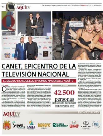 edición pdf 14 Septiembre 2018 Especial II Premios Aquí TV