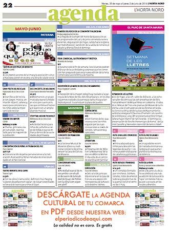 20 Mayo 2016 - Agenda horta Nord