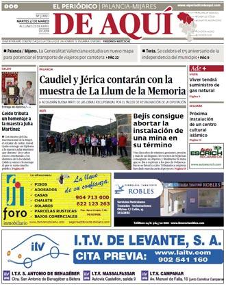 edición pdf 27 Marzo 2018 Alto Palancia - Mijares