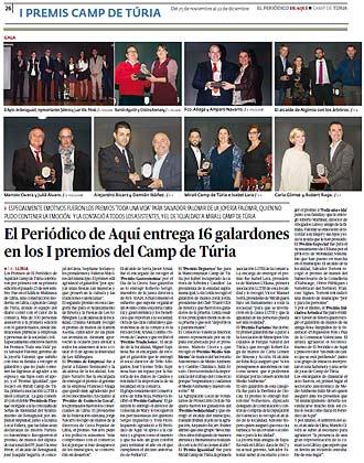 edición pdf 25 Noviembre 2016 Especial Premios Aquí Turia