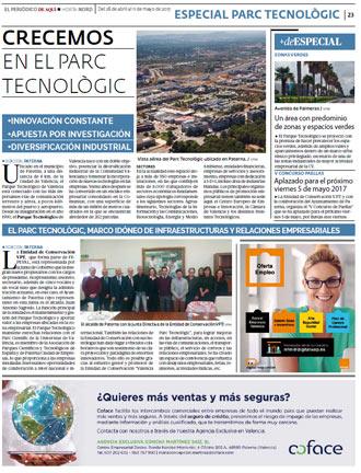 edición pdf 28 Abril 2017 Especial Parque tecnológico Valencia